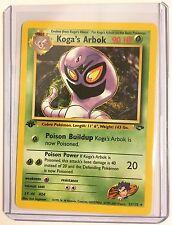 Pokemon KOGA's ARBOK 1st Edition 25/132 ENGLISH Gym NonHOLO Rare MINT CONDITION