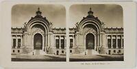 Francia Parigi, Entrée Del Piccolo Palais, Foto Stereo Vintage Analogica