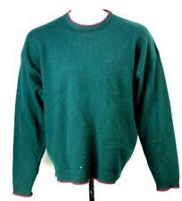 Abercrombie Fitch Mens M 100% Lambswool Green Crewneck Pullover Sweater