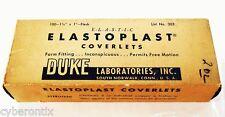 "Elastoplast Coverlets FULL BOX Oval Band-Aids Duke Laboratories 1"" 1940s Bandage"