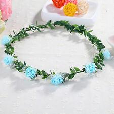 Pretty Girls Women Rose Flower Crown Headband Wreath Party Wedding Headwear