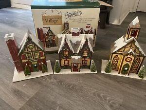Christmas Advent Village Calendar Costco Houses Doors Church Large With Box