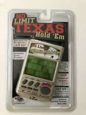 No Limit Texas Hold 'Em handheld Electronic Game RecZone 2005 Brand New