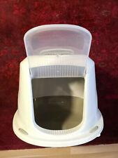 Rohrschneider Katzentoilette Galaxy Deluxe Braun/Weiß mit Schwingklappe