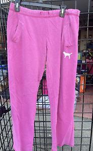 Womens Victorias Secret PINK sweatpants boyfriend style pink XS