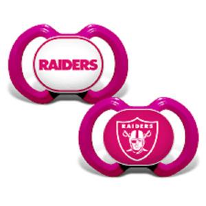Las Vegas Raiders Pink Baby Pacifier Set, NFL Licensed BPA Free Set of 2
