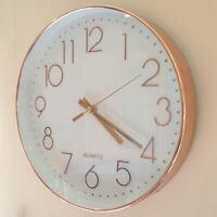 Retro Copper Wall Clock 30CM Rose Gold Round Quartz Hot Modern Contemporary