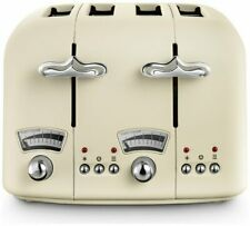 De'Longhi CTO4 Argento Flora 4 Slice Toaster Touch Of Authentic Italian Beige_UK