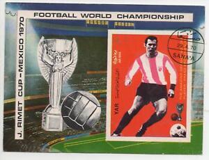 1970 J RIMET CUP MEXICO STAMP - FOOTBALL WORLD CHAMPIONSHIP