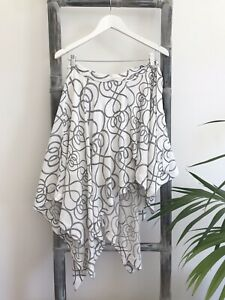 Sass & Bide Printed Asymmetric Hemline Wrap Skirt - Size 6