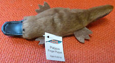 AUSTRALIAN ANIMAL GIFT PLATYPUS Soft Material FINGER PUPPET - Pack of 6 Puppets