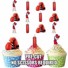 Formato De Boxeo Saco De Arena 12 Comestible Cupcake toppers decorations Cumpleaños Para Chicos Hombres