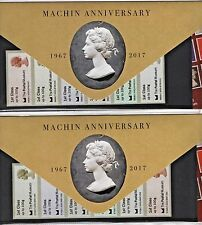 SCARCE POSTAL MUSEUM MACHIN 50th ORIG FONT BOTH PACK TYPES 1+2 Post Go 6/7 2017