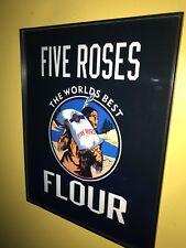 Five Roses Baking Flour Kitchen Baker Diner Indian Framed Advertising Print Sign