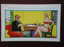 POSTCARD COMIC NO I CAN'T VACCINATE YOU WHERE IT WOMN'T SHOW
