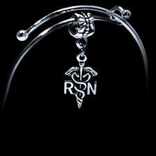 RN Bracelet  RN Austrian crystal charm Bracelet Nurse medical jewelry gift