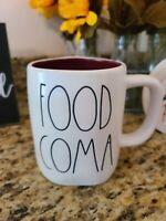 RAE DUNN Food Coma Mug Halloween Thanksgiving New 2020 White VHTF