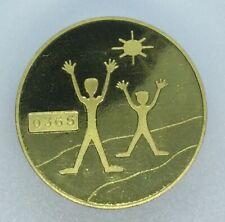 2002 Joy of Geocaching Geocoin Gold finish VHTF non trackable