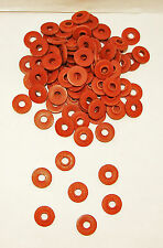 100 Tattoo Machine #8 Over sized Red Fiber Shoulder Washers Binder Parts USA
