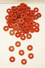 100 Tattoo Machine #8 Over sized Red Fiber Shoulder Washers Binder Parts USA