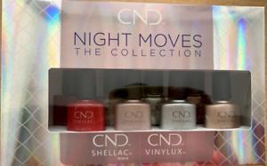 CND Night Moves Collection Shellac Gel Nail Polish & Vinylux 8 Polish Gift Set
