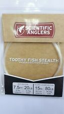 """Scientific Anglers Premium"""" Fluorocarbon Toothy Fish Stealth """" 80Lb Wire 3 Snap"""