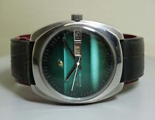 VINTAGE ENICAR AUTOMATIC DAY DATE SWISS MENS WRIST WATCH E69 OLD USED ANTIQUE