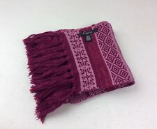 CEJON Pink Nordic Winter Scarf with Tassels