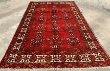 Authentic Hand Knotted Vintage Zaidan Balouch Wool Area Rug 6 x 4 Ft (945 Hm)