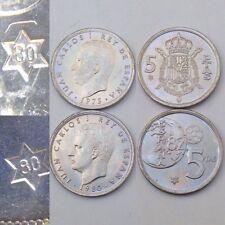 Lote De Monedas 5 Pesetas 1975 *80 1980 *80 De Juan Carlos Duro S/C