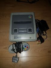 super nintendo with supercic installed region free modded 50/60hz with super mar