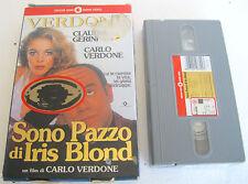 SONO PAZZO DI IRIS BLOND (1996) VHS ORIGINALE 1ª EDIZIONE CECCHI GORI