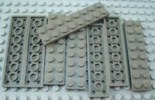 LEGO Lot of 8 Dark Gray 2x8 Flat Building Plate Pieces