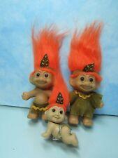 INDIAN CHILDREN SET - Russ Troll Dolls - NEW IN ORIGINAL WRAPPERS