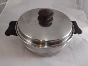"""SALADMASTER 8"""" DOUBLE BOILER Insert w/ Lid Stainless Steel - USA"""