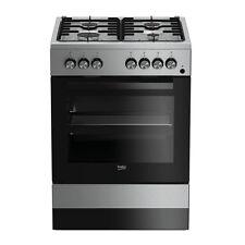 Cucina a gas 60x60 Forno elettrico ventilato Inox Beko FSE62110DX