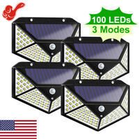 100LED Solar Power PIR Motion Sensor Waterproof Wall Light Outdoor Garden Lamp a