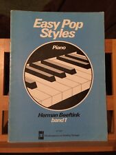Herman Beeftink Easy pop style volume 1 partition piano éditions Van Teeseling