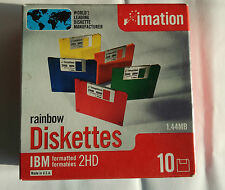 More details for imation colour 3.5'' 2hd floppy disks 10 pack - new sealed