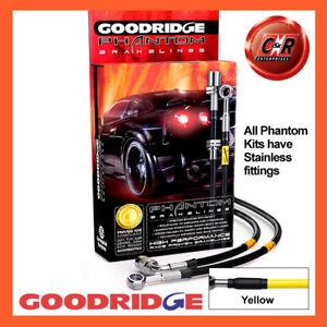 Ford Focus MK1 1.8 Rr Discs 01-05 SS Yellow Goodridge Brake Hoses SFD1006-6C-YE