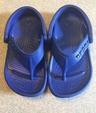 CROCS BLUE FLIP FLOPS KIDS SIZE 6/7 NEW