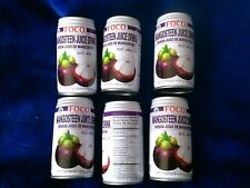 MANGOSTEEN JUICE, 6 CANS x 350ml FOCO DRINK, Nuoc Mang Cuc, Jugo De Mangostan