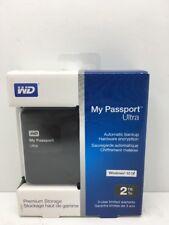 Western Digital My Passport Ultra 2TB USB 3.0 Portable Hard Drive Black NEW