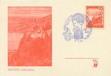 """2132 """"Bregenzer Festspielwochen 1948"""" SST a Kab.-Maximumkarte der Gebhartsberg"""