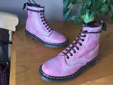 Vintage Dr Martens 1460 pink pascal leather boots UK 6 EU 39 England goth punk