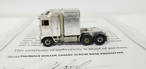HOT WHEELS THUNDER ROLLER ZAMAC SCREW BASE PROTOTYPE FROM LARRY WOOD COLLECTION
