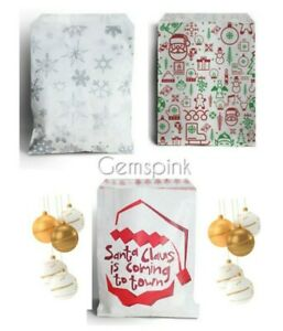 """Candy xmas Paper Counter Sweet Gift Shop Party bags  Birthday 5 x 7"""""""