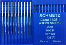SCHMETZ DBX1 287 WH CANU:14:25 1 NM:80 SIZE12 INDUSTRIAL SEWING MACHINE NEEDLE