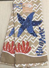 Seashore Starfish Kitchen Towel Set Of 2 by Kay Dee NEW