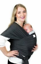 Baby Wrap Carrier for Newborn and Infant (Dark Heather Grey)
